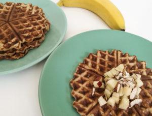 Sunde og hurtige bananvafler